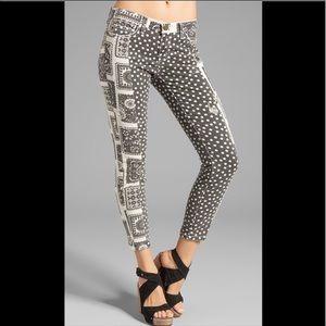 Current/Elliot Seamstress Patchwork SkinnyJeans 28